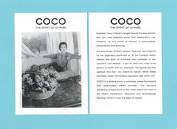 Cartes Parfumées  Carte  CHANEL COCO   De CHANEL RECTO VERSO THE SPIRIT OF CHANEL - Cartes Parfumées