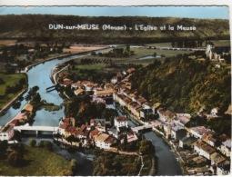 55 -  DUN SUR MEUSE -  VUE AÉRIENNE  - L'ÉGLISE ET VUE GÉNÉRALE - Dun Sur Meuse