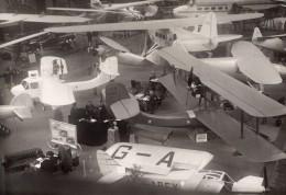 Paris Grand Palais Salon De L'Aeronautique Vue Generale Aviation Avions Ancienne Photo Andre 1930