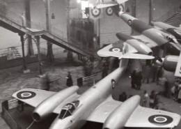 Paris Grand Palais Salon De L'Aeronautique Avion Gloster Meteor Ancienne Photo 1946 - Luftfahrt