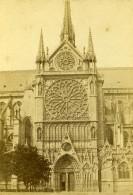 France Cathédrale Notre Dame De Paris Façade Sud Ancienne Photo CDV 1870 - Photographs