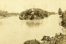 France Paris Lac Du Bois De Boulogne Ancienne Photo CDV Hautecoeur 1870 - Old (before 1900)