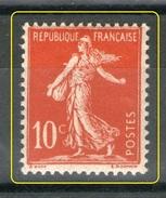 N° 134 II**_rouge SANG_tres Bon Centrage_transparence Verso_voir Scans - 1906-38 Semeuse Camée