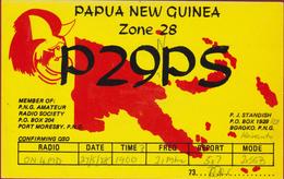 QSL Card Amateur Radio Station 1978 Papua New Guinea Port Moresby Funkkarte QTH - Radio Amatoriale