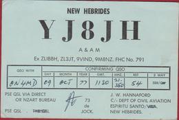 QSL Card Amateur Radio Station New Hebrides Espiritu Santo 1977 Vanuatu Funkkarte QTH - Radio Amateur