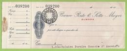 Almada - Cheque Do Banco Pinto & Sotto Mayor