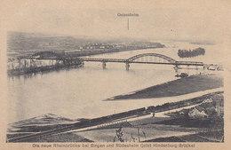 Ph-CPA Allemagne Gelsenheim (Hesse) Die Neue Rheinbrücke Bei Bingen Und Rüdesheim (jetz Hindenburg Brücke) - Allemagne