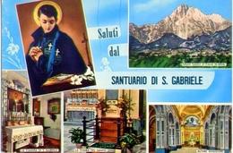 Saluti Dal Santuario Di S.gabriele - Teramo - 49246 - Formato Grande Viaggiata – E1 - Teramo