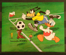 DOMINICA 1982 Football World Cup - Spain - Walt Disney Cartoon Characters. NUEVO - MNH ** - Copa Mundial