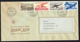 1944   25 Ans De La Poste Aérienne  Zum PA 37-40 Vol Spécial  Genève -  Zurich - Poste Aérienne