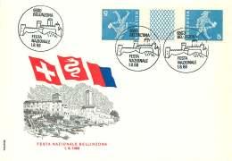 1968  Enveloppe Commémorative Festa Nazionale Bellinzona   Zum S63 - Suisse