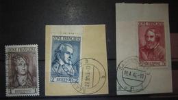 1945, Französische Zone Markwerte, Lesen!, French Zone High Values, Read!, Michel 11-13, Used O, Value +160,- - Zona Francese