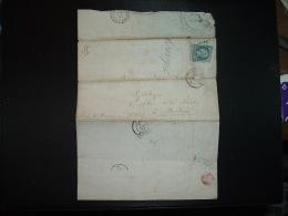 LETTRE (PLI) TP EMPIRE ND 20c OBL. A + 14 OCT 58 A PARIS A + ASSISTANCE PUBLIQUE Pour MELUN (77) - Marcophilie (Lettres)