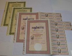 Hachette, Avec Illustration Du Fondateur Louis Hachette En Médaillon Sur 2 Actions - Industrie