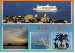 Corse Du Sud Ajaccio 4 Vues De 1997 Ferryterranée SNCM Port Ville Les Sanguinaires Napoléon - Ajaccio