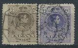 Spagna 1909 Usato - Mi.231; 234 SCAN!! - 1889-1931 Regno: Alfonso XIII