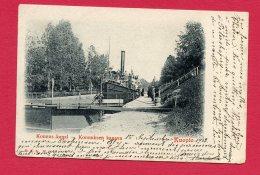 CPA (W 464) Konnus Kanal - Konnuksen  Kanava - Kuopio (FINLANDE) (animée, Bateau Vapeur) - Finnland