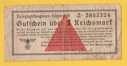 Ww2 Deutsche 1 Reichsmark Billet Monnaie Militaires Allemands Der Chef Des Oberkommandos Der Wehrmacht 4.5x9.5 Cms - 1939-45