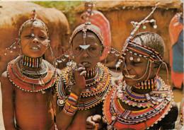 KENYA   MASAI  GIRLS    2 SCAN       (VIAGGIATA) - Kenia