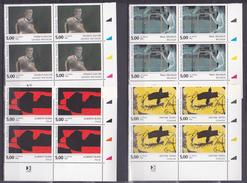 N° 2779 à 2782 Série Européenne: Francis Bacon Alberto Burri Paul Delvaux Antoni Tapies: Série En Blocs De 4 Timbres - Francia