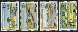 1977 Kenya Ethiopia Highway Border Point Land Rover Elephants  Complete Set Of 4 MNH - Kenia (1963-...)