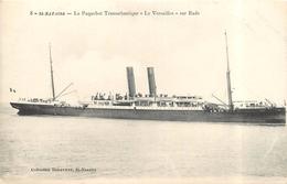 """SAINT NAZAIRE - Le Paquebot Transatlantique """"le Versailles"""" Sur Rade. - Dampfer"""