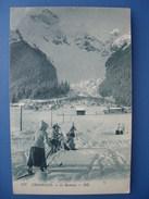 (ski) Chamonix. Skieuses Face Au Brévent, Vers 1910. Dos Vert, état SUP. - Sports D'hiver