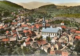 CPSM Dentelée - GRENDELBRUCH (67) - Vue Aérienne Du Centre Du Village En 1966 - Otros Municipios