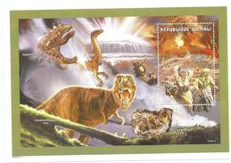 1999 Mali Minerals Dinosaurs Volcanoes  Complete Set Of 3 Sheets Scott $34 - Volcanos