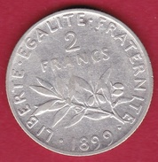 France 2 Francs Argent Semeuse 1899 - France