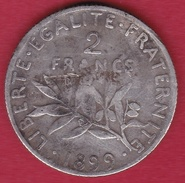 France 2 Francs Argent Semeuse 1899 - I. 2 Francs