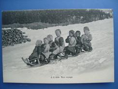 (luge) Bon Voyage, Vers 1910. Etat LUXE. - Sports D'hiver