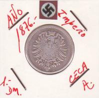 ALEMANIA - IMPERIO - DEUTSCHES REICH - 1- DM. AÑO 1876-A - 1 Mark