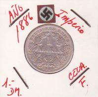 ALEMANIA - IMPERIO - DEUTSCHES REICH - 1- DM. AÑO 1886-F - 1 Mark