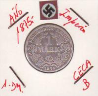 ALEMANIA - IMPERIO - DEUTSCHES REICH - 1- DM. AÑO 1875-B - 1 Mark