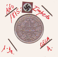 ALEMANIA - IMPERIO - DEUTSCHES REICH - 1- DM. AÑO 1875-A - 1 Mark
