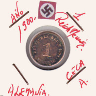 ALEMANIA - IMPERIO - DEUTSCHES REICH - 1  PFENNIG. . AÑO 1900-A - [ 2] 1871-1918 : Imperio Alemán