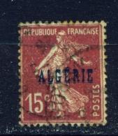 ALGERIA  -  1924  Stamps Of France Opt. ALGERIE  15c  Used As Scan - Algeria (1924-1962)