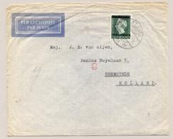 Nederlands Indië - 1949 - Indonesia Opdruk Op 40 Cent Wilhelmina Type Hartz, Enkelfrankering Naar Heemstede - Nederlands-Indië