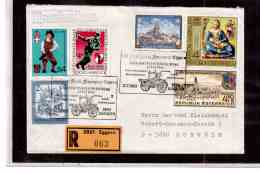 TEM9278  -   EGGERN  11.7.87 /  REGISTERED COVER WITH INTERESTING POSTAGE-100 JAHRE FREIW.FEUERWEHR - Sapeurs-Pompiers