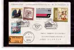 TEM9280  -   PERTISAU 26.6.87 /  REGISTERED COVER WITH INTERESTING POSTAGE  -  SCHIFFSPOST - Schiffe