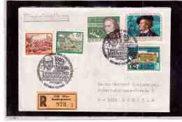 """TEM9289  -    WIEN 6.12.86  /  REGISTERED COVER WITH INTERESTING POSTAGE  -   """" ROBERT STOLZ """" - Musik"""