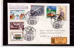 TEM9316  -  LINZ 9.11.85   /    REGISTERED COVER WITH  INTERESTING POSTAGE - - 1981-90 Covers