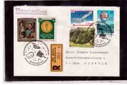 TEM9329    -   GMUEND 8.3.86   /    REGISTERED COVER WITH  INTERESTING POSTAGE -  TAG DER ASTROPHILATELIE - Lettres & Documents