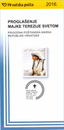 CROATIA 2016 - Notice Folder Leaflet Brochure - Mother Theresa - Teresa -