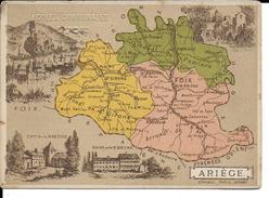 CPA  Carte Géographique Département De L'Ariège 13241 - Carte Geografiche