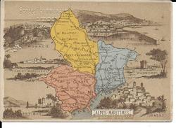 CPA  Carte Géographique Département Des Alpes-Maritimes 13242 - Carte Geografiche