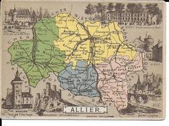 CPA  Carte Géographique Département De L'Allier 13243 - Carte Geografiche