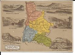 CPA  Carte Géographique Département De La Drôme 13245 - Carte Geografiche