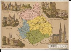 CPA  Carte Géographique Département De L'Eure Et Loir 13246 - Carte Geografiche